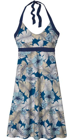 Patagonia W's Iliana Halter Dress Best Fronds: Bandana Blue